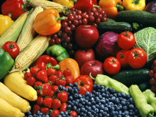MyPlate says: Make half your plate fruits and vegetables.